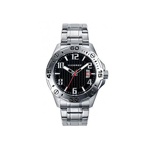 Uhren Viceroy 40389 55 Quartz Steel Black Man