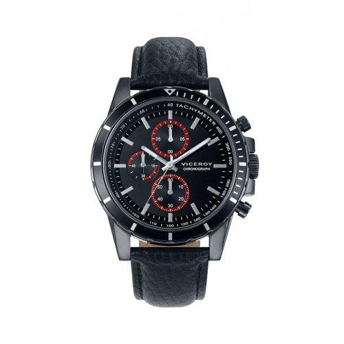 Uhren Viceroy 40505 57 Quartz Black Leather Mann