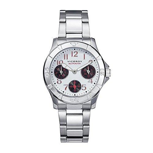 Uhren Viceroy 432309 04 Stahl Cadet Weiss Multifunktions