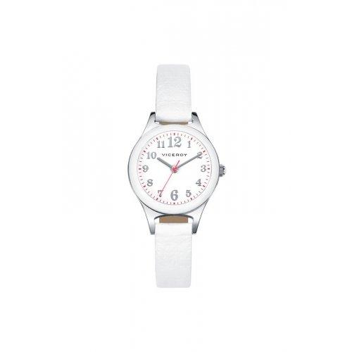 Uhren Viceroy 46902 05 Kinder Weiss Leder Quarz