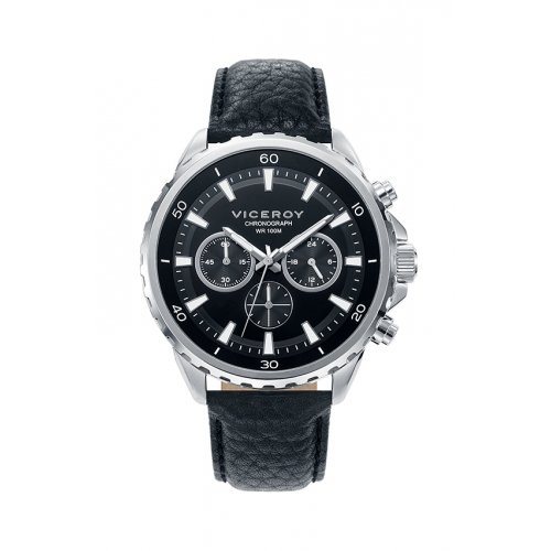 Viceroy 401037 57 Uhr Chronograph Black Leather Mann