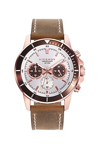 Uhr Viceroy 401039 07 Leder Chronograph White Man