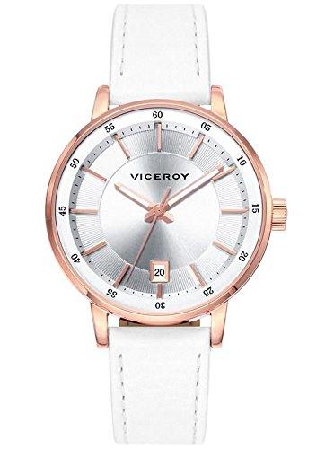 Viceroy 471034 17 Leder Stahl IP Rose Kalender
