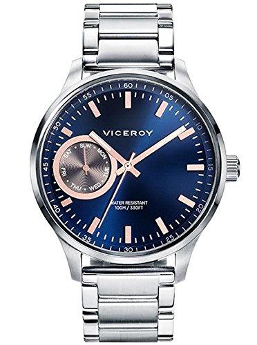 Viceroy 471057 37 Uhr Multifunktions Men Steel Blue