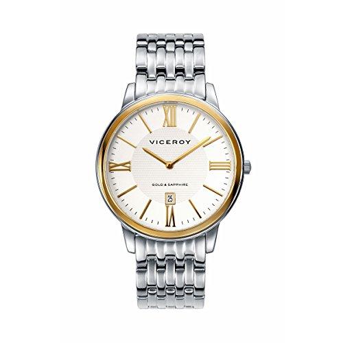 Uhr Viceroy der Mann Armband aus Stahl Rund Weiss Zifferblatt
