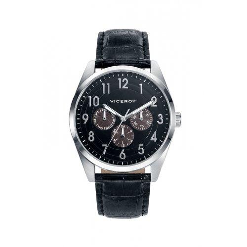 Reloj Viceroy 46675 55 Multifunktions Leder Schwarz Mann