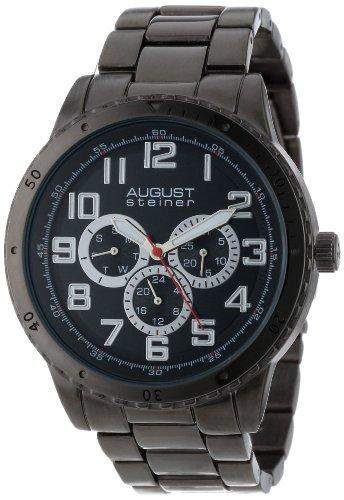August Steiner Herren Multifunktions-Quarz Armband Armbanduhr