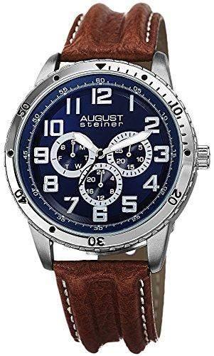 AUGUST STEINER Herren-Armbanduhr Analog Quarz AS8116BR