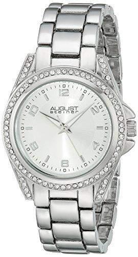 August Steiner Damen-Armbanduhr Analog Display Japanisches Quarz-Silber