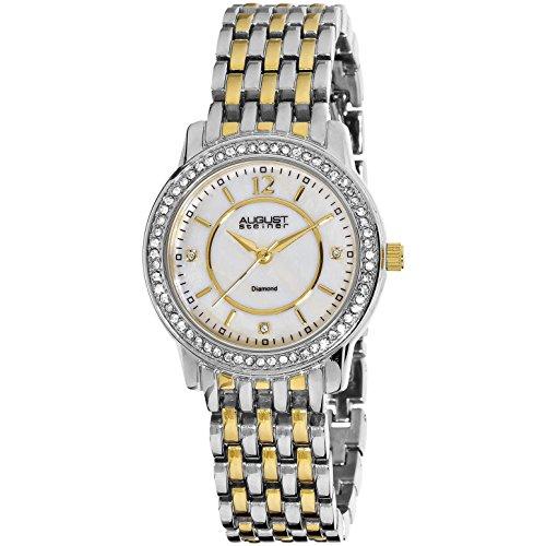 August Steiner Damen 32 5mm Multi Color Metall Armband Uhr AS8027TTG