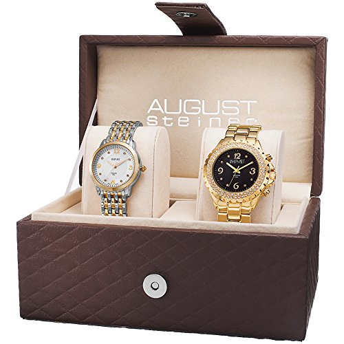 August Steiner as8171yg Dazzling Diamond Swiss Quartz 2 Set