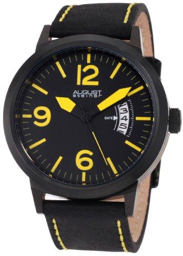 August Steiner Herren ASA812YL Schweizer Quartz Bold Military Leuchtende Uhr