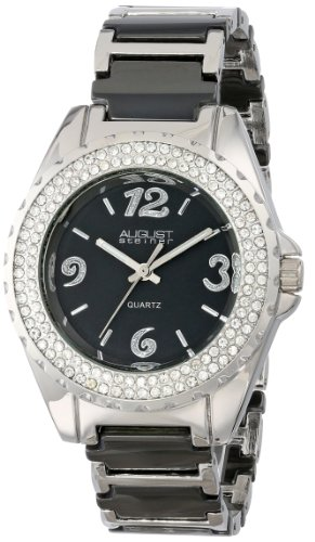 August steiner Damen Armbanduhr Quartz Crystal Analog Quarz AS8036BK