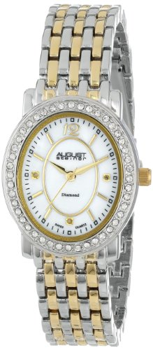August steiner Damen Armbanduhr Dazzling Diamond Analog Quarz AS8043TTG