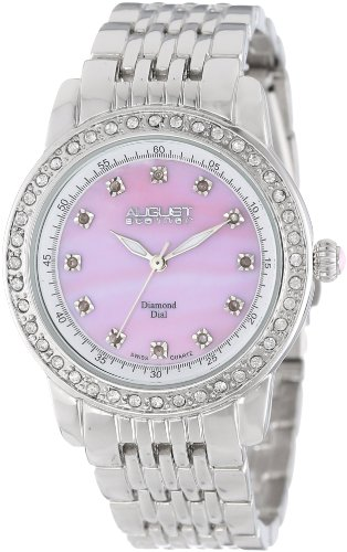 August steiner Damen Armbanduhr Diamond and Crystal Analog Quarz AS8045PK