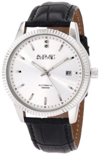 August Steiner Herren Diamant Automatik Armband Kleid Uhr