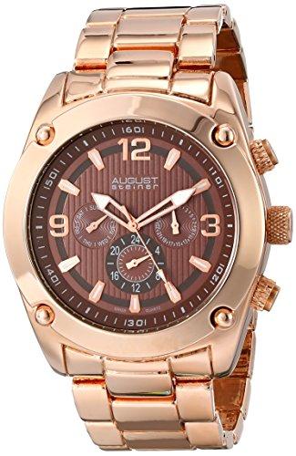 August Steiner Herren Analog Display Swiss Quartz Rose Gold Watch