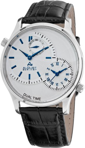 August Steiner Stainless Steel Analog Quarz ASA810BU