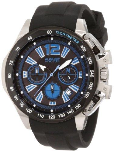 August Steiner Herren Edelstahl Chronograph GMT Uhr