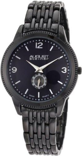 August Steiner Herren Schweizer Quartz Classic Kleid Armband Armbanduhr