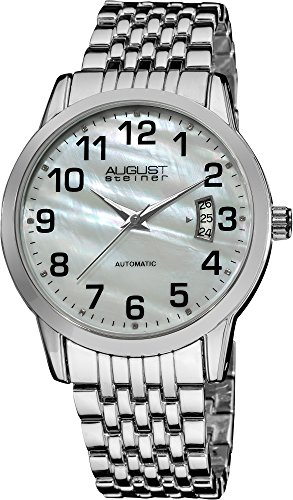 AUGUST STEINER Automatic Mother Of Pearl Analog Automatik ASA826SS