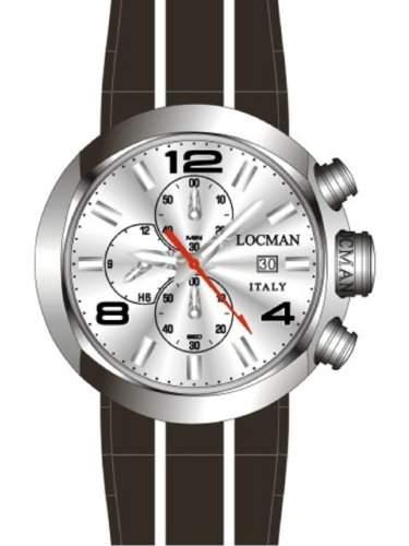 "Locman Herren-Armbanduhr ""ONE"" 042000AGNBK0SIK-T-K"
