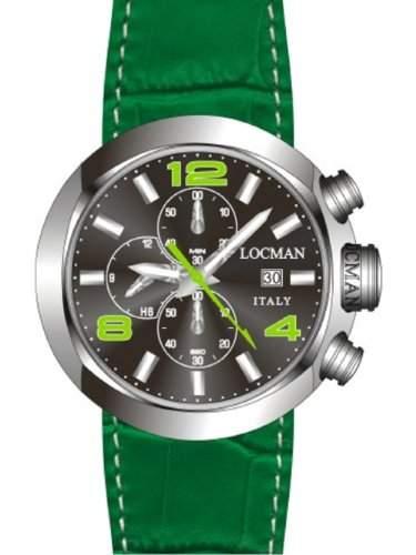 "Locman Herren-Armbanduhr ""ONE"" 042000BKNGR0PSD-KS-K"