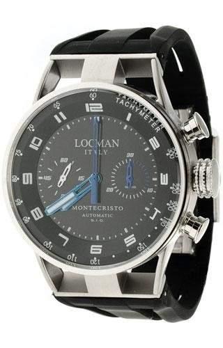 Locman Herrenuhr Chronograph Automatik Montecristo 0514V03-00BKSSIK