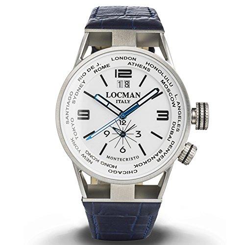 Armbanduhr Herren Dual Time Montecristo Ref 508 0508 a08s 00whbkpb LOCMAN