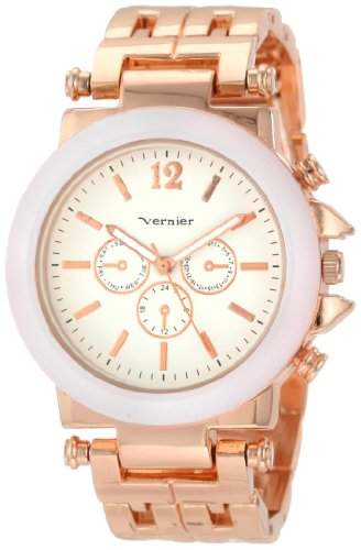 Vernier Damen VNR2364RS Enamel Schauen Armband Quarzuhr