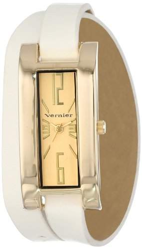 Vernier Damen Extra Long Leather Wrap Strap Armbanduhr