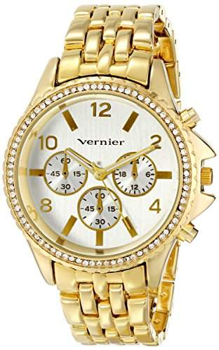 Vernier Damen VNR11158YG Vernier Analog Display Japanese Quartz Gold Armbanduhr