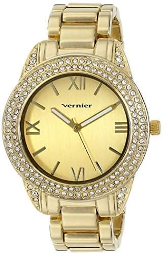 Vernier Damen VNR11165YG Vernier Analog Display Japanese Quartz Gold Armbanduhr