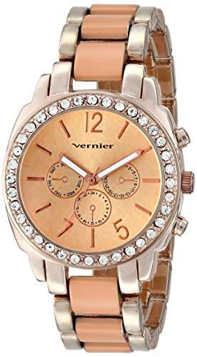 Vernier Damen VNR11173CR Vernier Analog Display Japanese Quartz Two Tone Armbanduhr