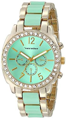 Vernier Damen VNR11173GR Vernier Analog Display Japanese Quartz Two Tone Armbanduhr