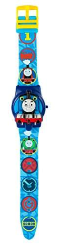 Thomas & Friends Kinder-Armbanduhr digitales Display Quarzuhrwerk Kunststoffband blau, TTE84