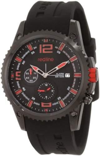 Red Line Boost Herren 43mm Schwarz Armband Edelstahl Gehaeuse Uhr 50031YM-BB-01RD