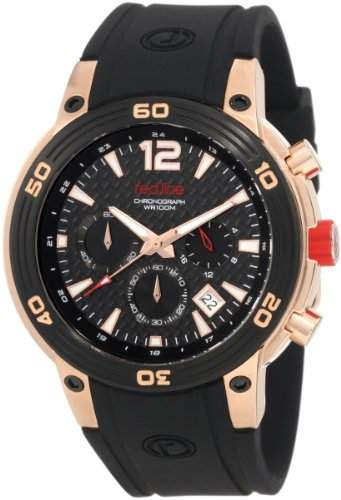Red Line Mission Mens Black Silicone Date Chronograph Watch RL-50033-RG-01