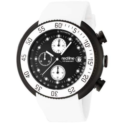 Red Line Herren-Armbanduhr Red Line Driver Chronograph weiss RL-50038-BB-01-WHT