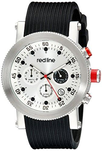 Red Line Compressor Herren 45mm Chronograph Edelstahl Gehaeuse Uhr 18101VD 02