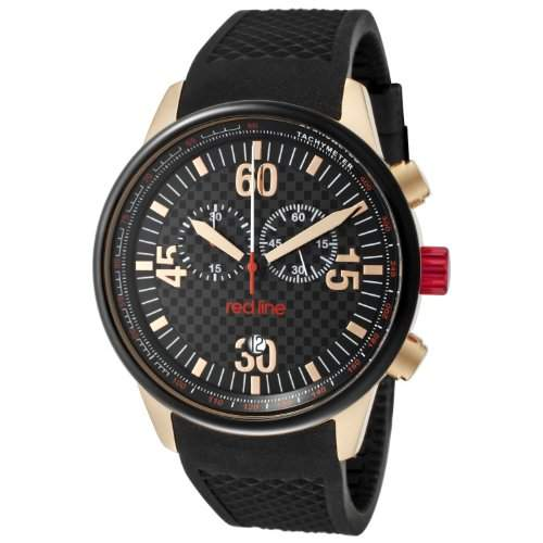 Red Line Herren-Armbanduhr Chronograph Quarz Kautschuk RL-10101
