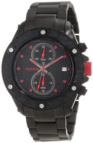 Red Line Carbon Brake Mens Black Ion-plated Date Chronograph Watch RL-10107DV