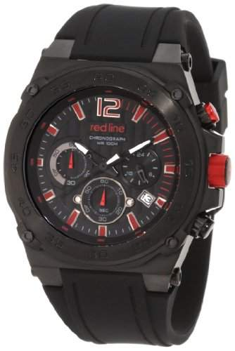 Red Line Aviator Mens Black Silicone Date Chronograph Watch RL-50032-BB-01-RA