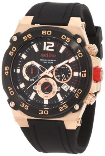Red Line Herren-Armbanduhr 45mm Armband Silikon Schwarz Gehäuse Edelstahl Quarz RL-50032-RG-01