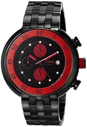 Red Line Driver Herren-Armbanduhr 50mm Chronograph Quarz Datum 50038-BB-11-RDA