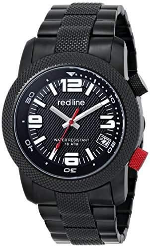 RED LINE HERREN 44MM EDELSTAHL, IONENBESCHICHTET GEHAEUSE DATUM UHR 50043-BB-11