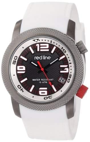 RED LINE OCTANE HERREN 44MM KAUTSCHUK ARMBAND MINERAL GLAS UHR 50043-GY-01-WH