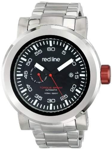 Red Line Torque Sport Herren 50mm Automatikwerk Mineral Glas Uhr 50046-11BK