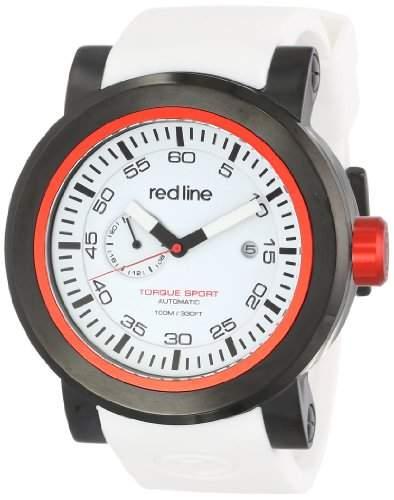 Red Line Torque Sport Herren 50mm Automatikwerk Datum Uhr 50046-BB-02RD-WHST