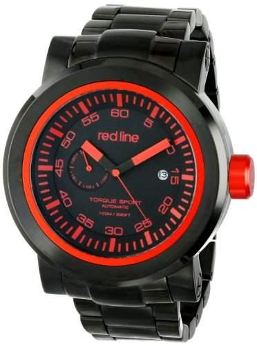 Red Line Torque Sport Herren 50mm Automatikwerk Mineral Glas Uhr 50046-BB-11RD